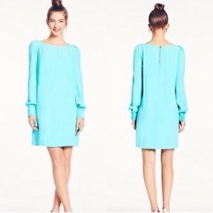 kate spade turquoise cordette shift dress size 6